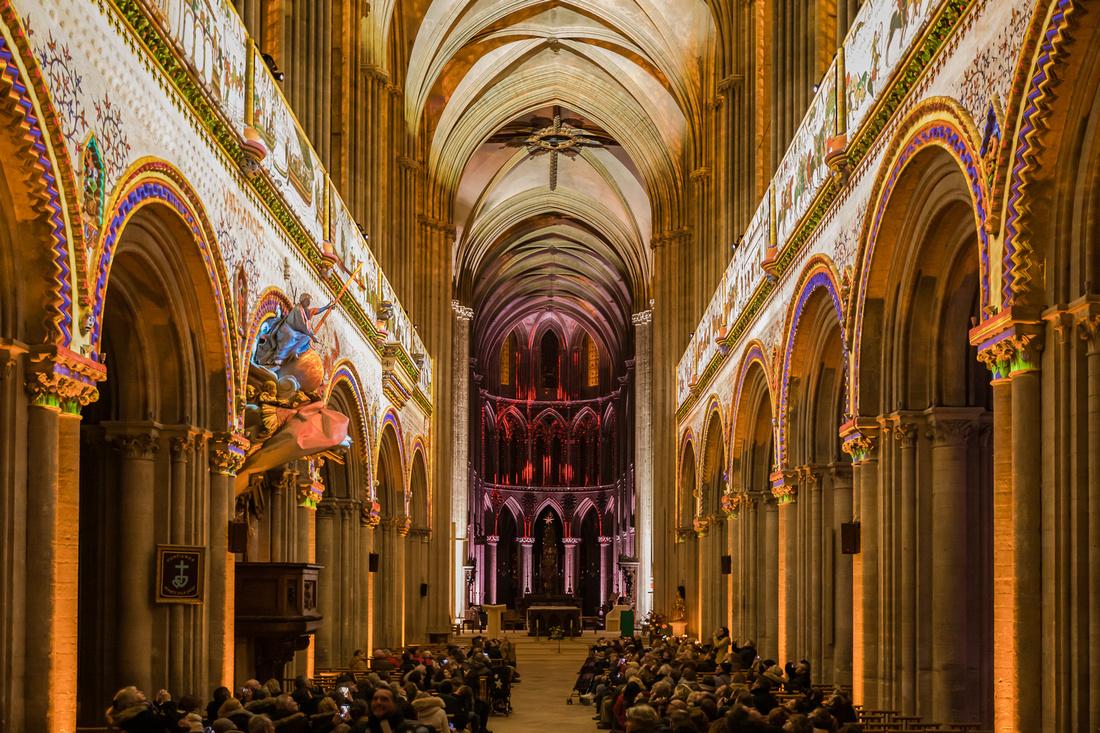 Spectacle son et lumière - Cathédrale de Bayeux - Calvados - Normandie