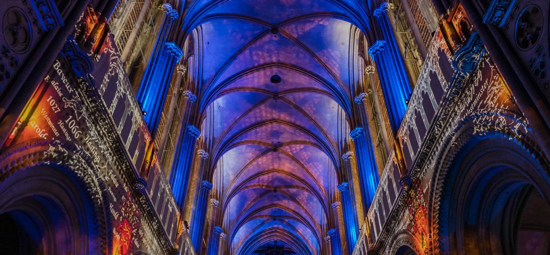 Photographe Evénementielle // Spectacle son et lumière à la Cathédrale de Bayeux -- Normandie - France