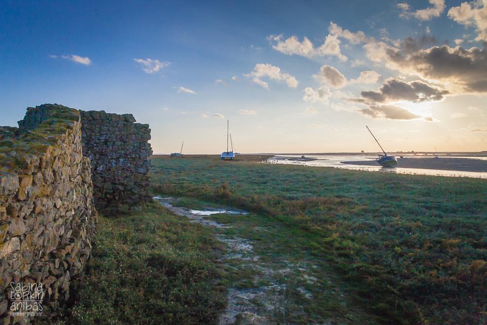 Découvrez la Normandie - Regnéville-sur-Mer et ses bateaux en automne. Manche (50) Photos prises par Sabina Lorkin